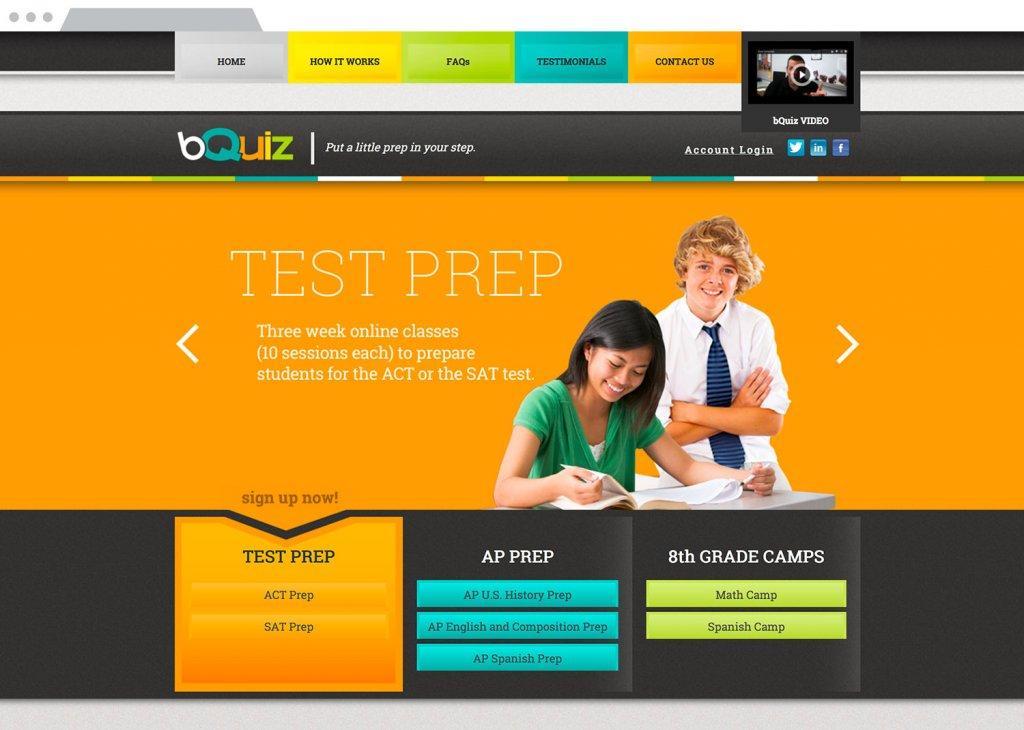 bQuiz Website Design