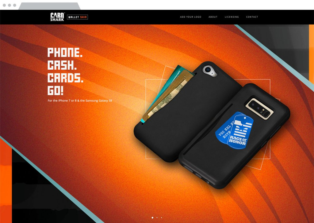 CardShark Wallet Skin Responsive Website Design