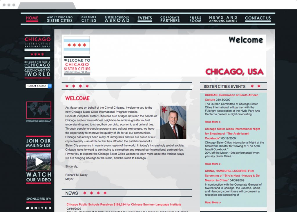 Chicago Sister Cities Website Design