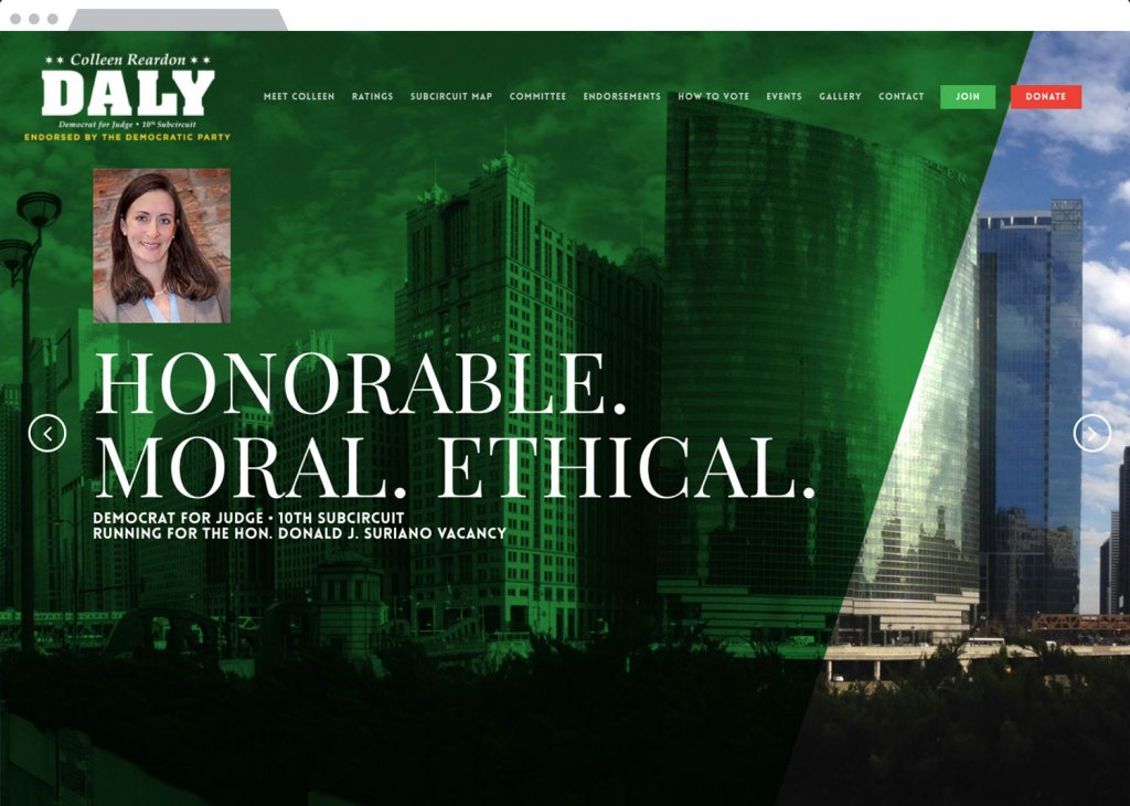 Daly for Judge Responsive Website Design