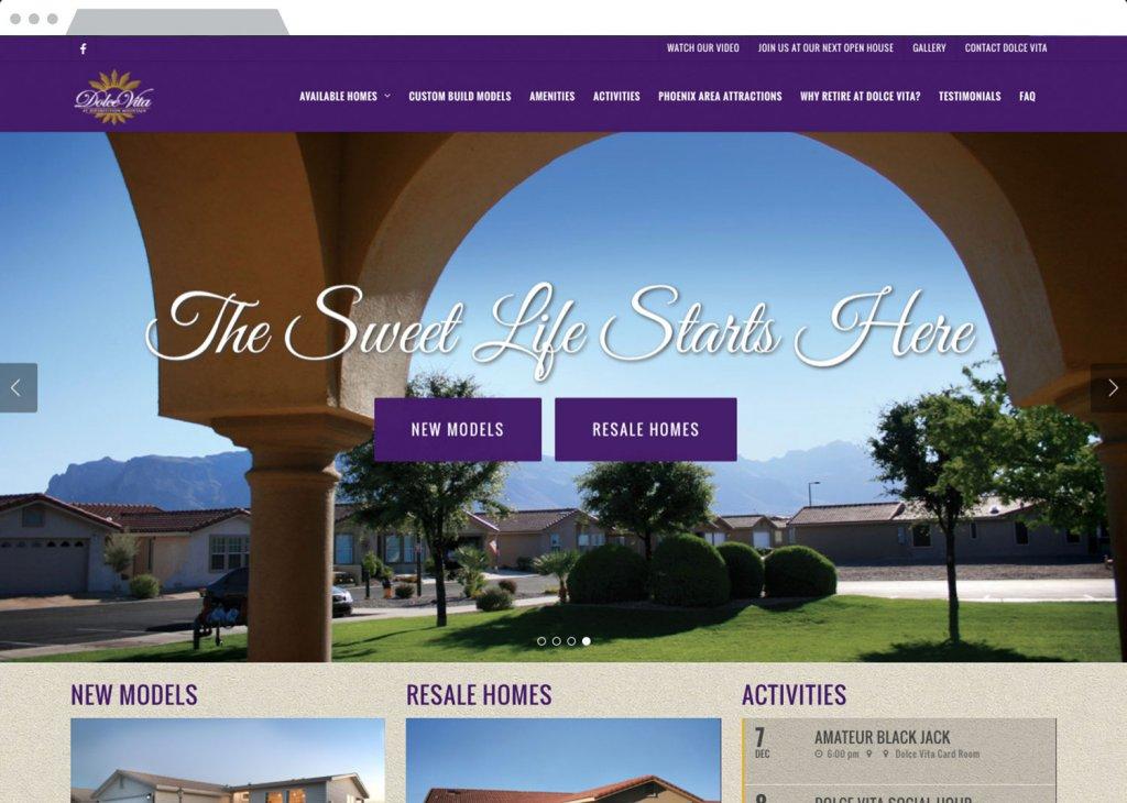 Dolce VIta Responsive Website Design