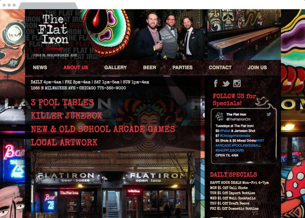 The Flat Iron Responsive Website Design