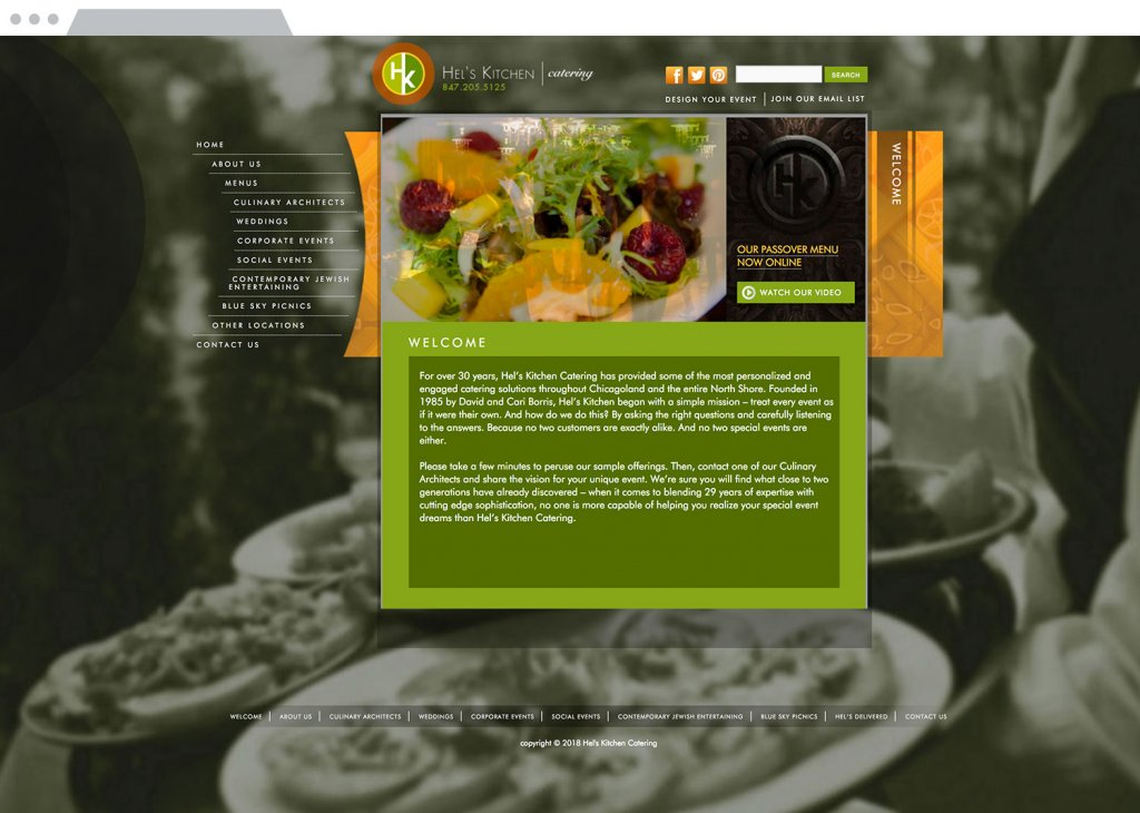 Hel's Kitchen Website Design