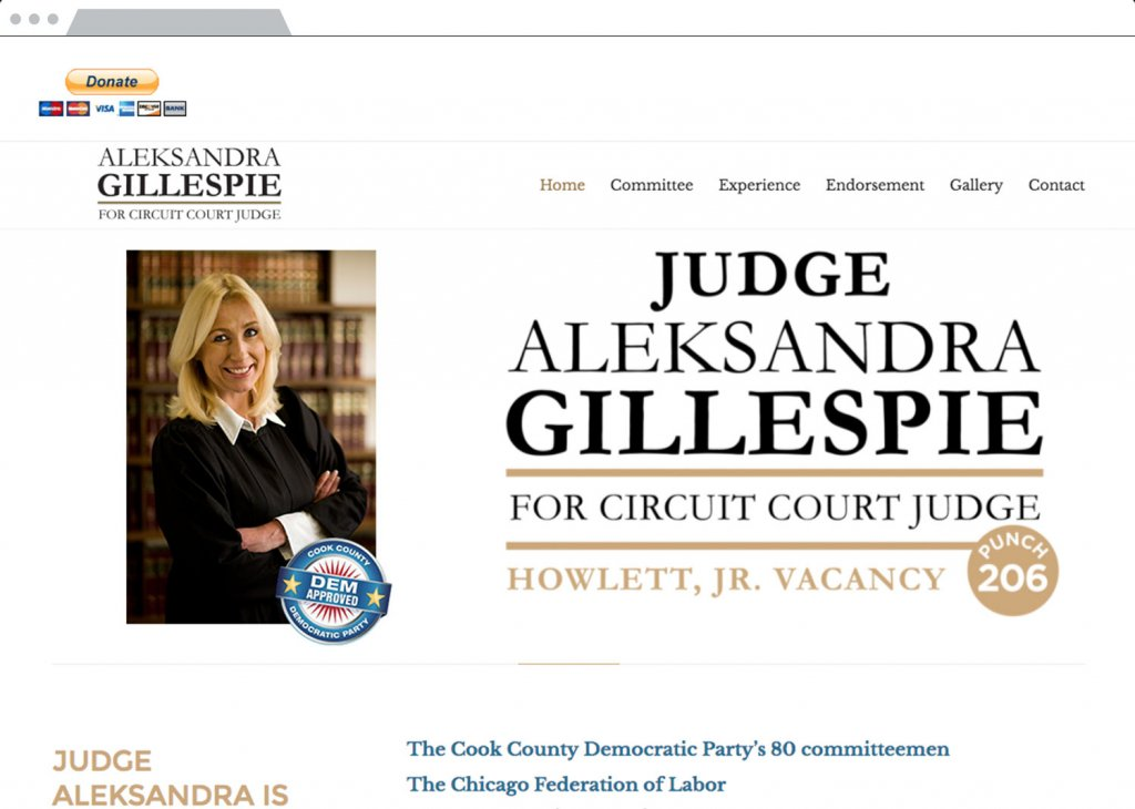 Judge Gillespie Responsive Website Design