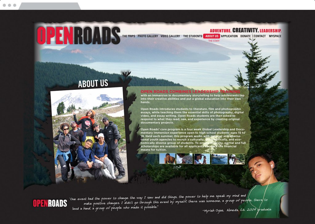 Open Roads Website Design