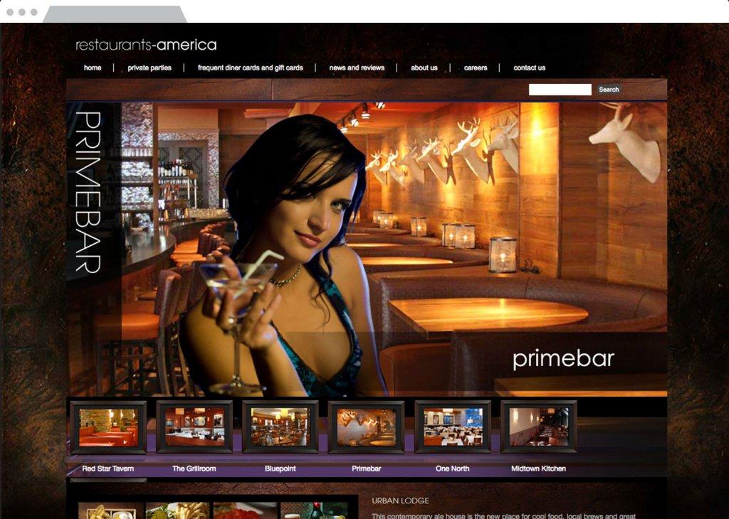 Prime Bar Website Design
