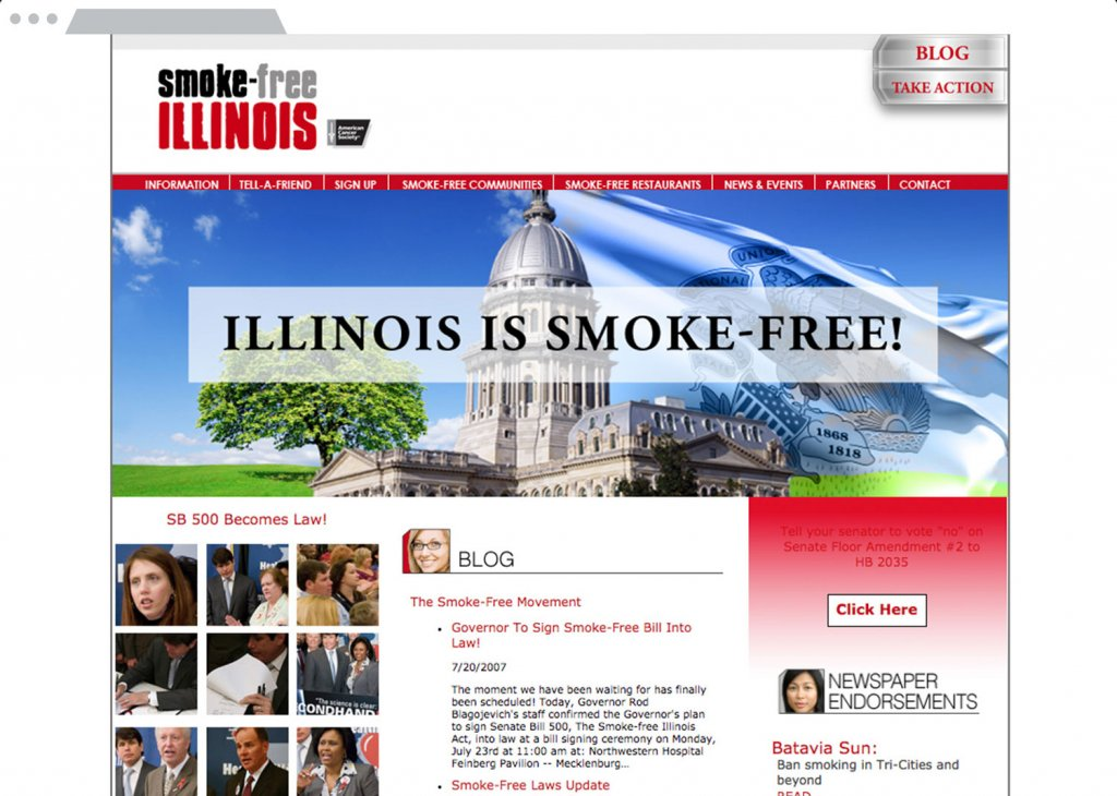 Smoke-Free Illinois Website Design