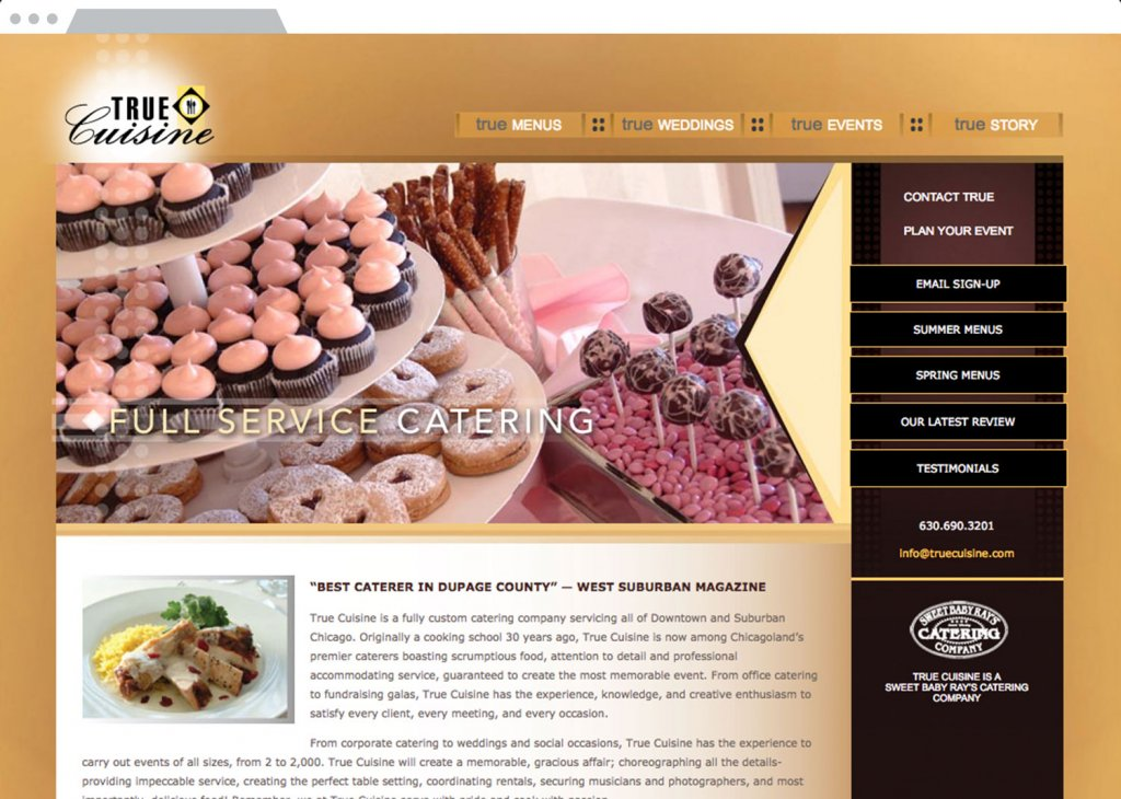 True Cuisine Website Design