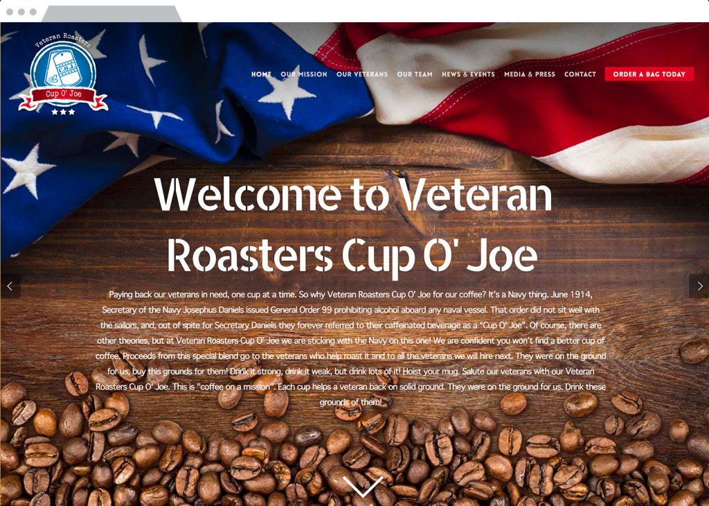 Veteran Roasters Responsive Website Design